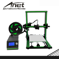 E10 ANET 3D Printer color Black/ Super easy installation/ 8GB SD and plastic as gifts/ express shipping from Moscow
