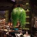 Mock anlage kronleuchter thema musik restaurant bar pub kronleuchter kreative cafe kronleuchter lampen hotel grün lampen ZA428519-in Pendelleuchten aus Licht & Beleuchtung bei