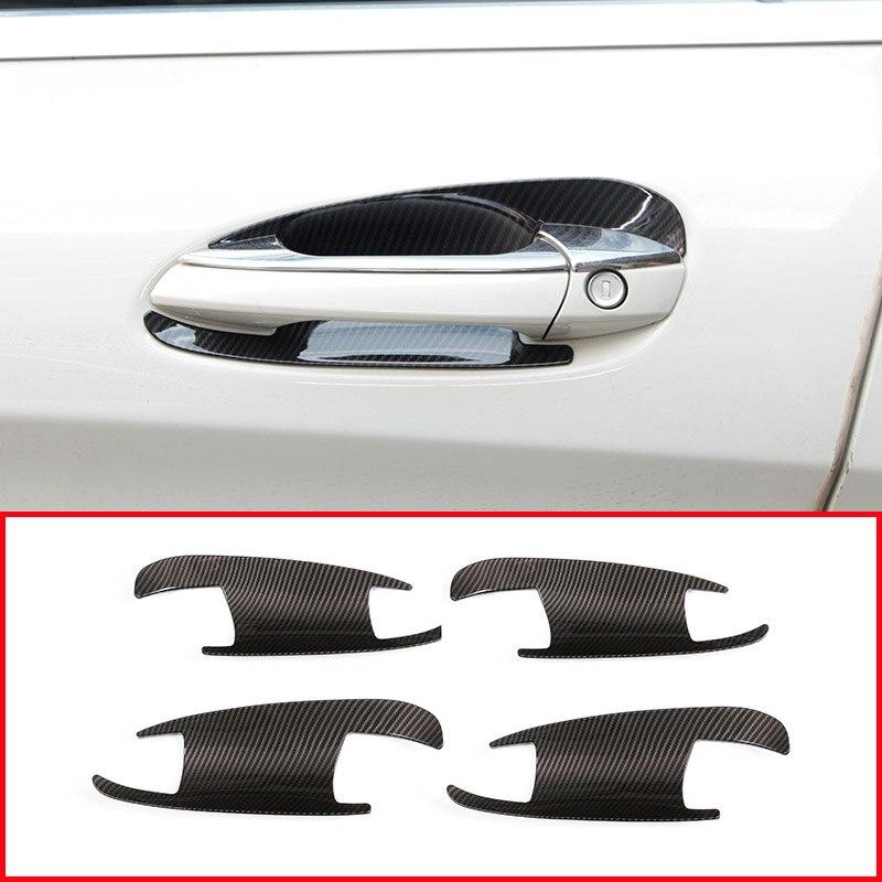 pour Ford Focus 2019 2020 DKINCM ABS en Fiber De Carbone Look Accessoires De Voiture Int/érieur Porte Fen/être Bouton Accoudoir D/écoration Couverture Garniture