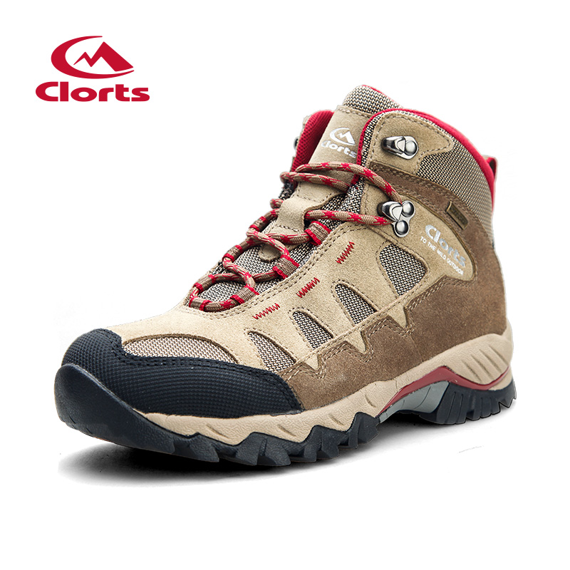 2018 Clorts Mens Hiking Boots Waterproof Outdoor Rock Climbing Shoes Sports Shoes Suede Leather For Male Free Shipping HKM-823A clorts women hiking shoes outdoor trekking shoes waterproof lace up mountain shoes suede leather female climbing shoes hkl 826e