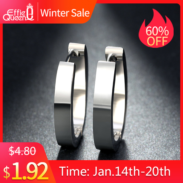 Effie Queen High Quality 316 L Stainless Steel Earrings for Women Perfect Polish