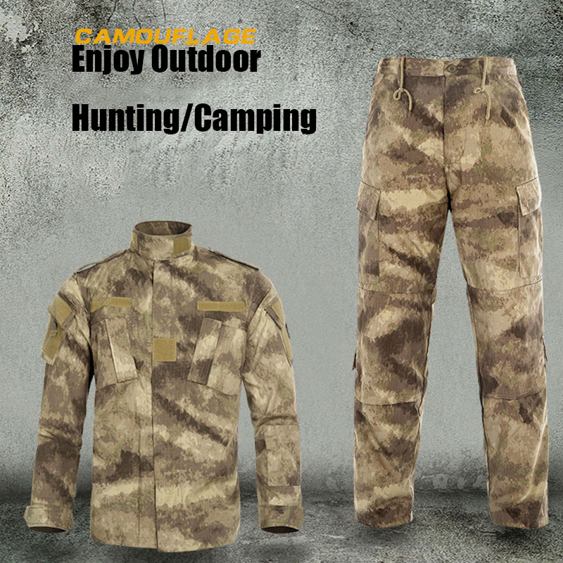 Military Ghillie Suit Shirt & Pants ACU Camo Hunting Military Tactical Military Camouflage Airsoft Paintball Equipment Clothes