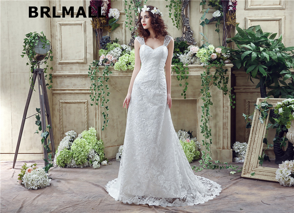 Cheap Wedding Dresses Lace: 2018 Cheap Vintage Wedding Dresses In Stock Lace Sheath
