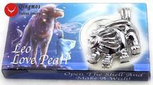 Женское Ожерелье qingmos с подвеской в виде клетки leo жемчуга