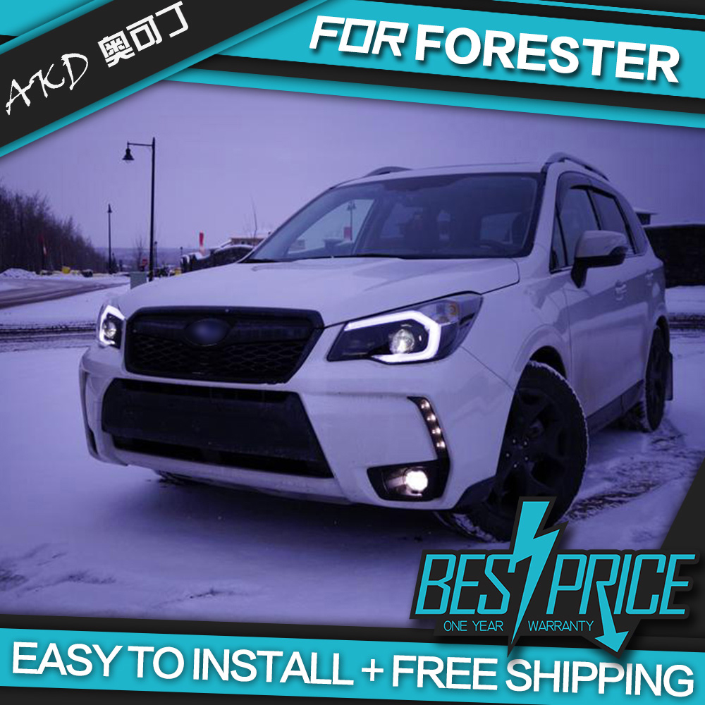 AKD Cars Styling Headlight For Subaru Forester 2013 Headlights LED Running lights Bi Xenon Beam Fog