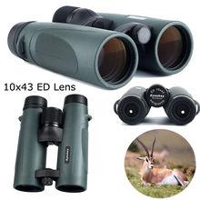 Free shipping Eyeskey HD 10x43mm ED Waterproof BAK4 Prism Binocular for Hunting Hiking Camping