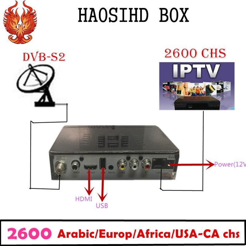 HAOSIHD Europe Arabic iptv receiver iptv italy free 2600 UK Italy French Germany Africa somali