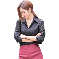 Spot Spring New Shirts Korea Act As Purchasing Agency Chiffon So Windy Yards Long Sleeve Shirts