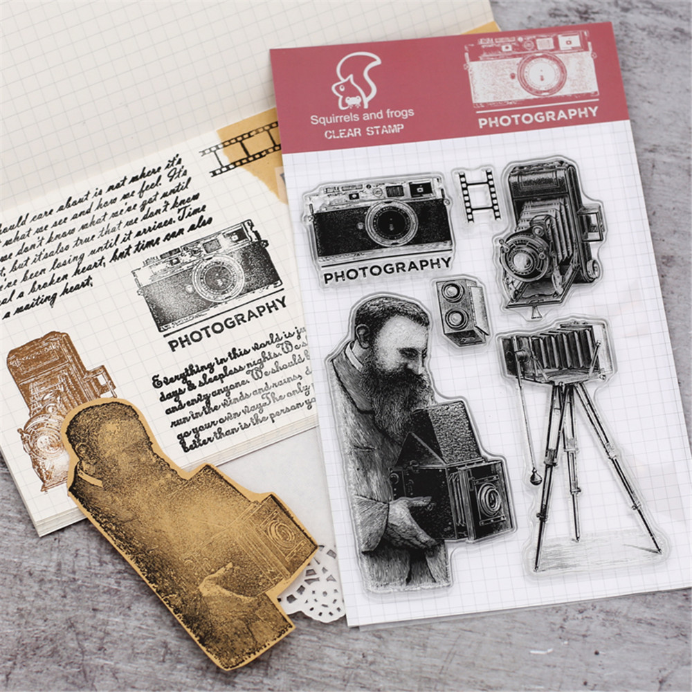 New Retro Style Transparent Silicone Stamp//Seal for DIY Scrapbooking photo Decor