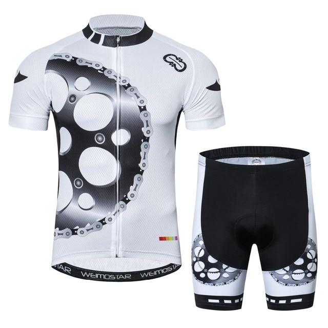 37afffe97 Pro Team Cycling Jersey Set Gear Bike Uniform Cycle Shirt Ropa Ciclismo  Bicycle MTB Cycling Clothing Black White Yellow Green