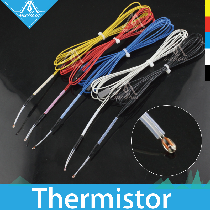 NTC 3950 100K Ohm Thermistor With 1 Meter Teflon Wiring For RepRap CR-10 Anet A8 TEVO Mk8 3D Printer Bed Or Hot End Parts