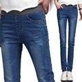 Niños Pantalones Vaqueros de Las Muchachas Nueva Primavera 2016 Gran Virgen Versión Coreana Delgada Skinny Lápiz Pantalón Largo Para Colegiala
