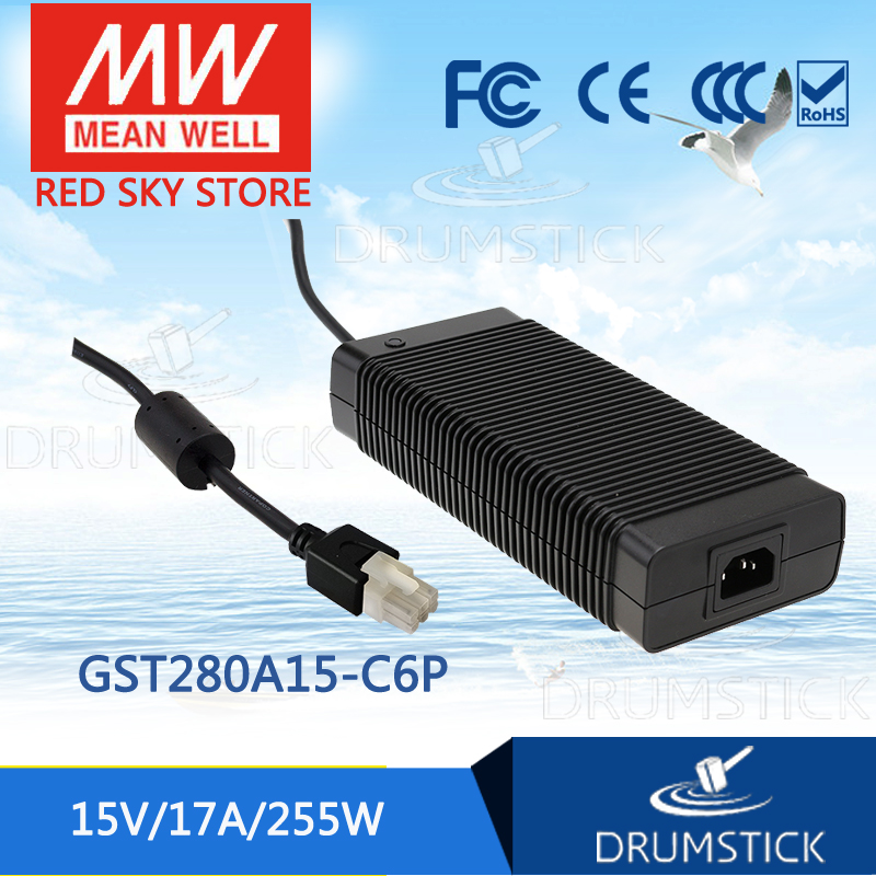 цена на MEAN WELL GST280A15-C6P 15V 17A meanwell GST280A 15V 255W AC-DC High Reliability Industrial Adaptor