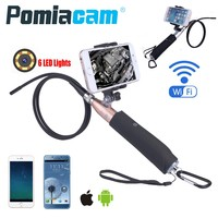 Handheld Wifi Endoscope Camera ZCF110 8mm Lens 6LED IOS Android Endoscope Borescope 1m Hard Cable Snake Industrial Endoscope