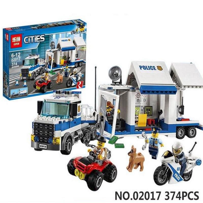 02017 LEPIN SimCity Police Mobile Command Center Building Blocks Enlighten DIY Figure Toys For Children Compatible Legoe 60139 mobile work center