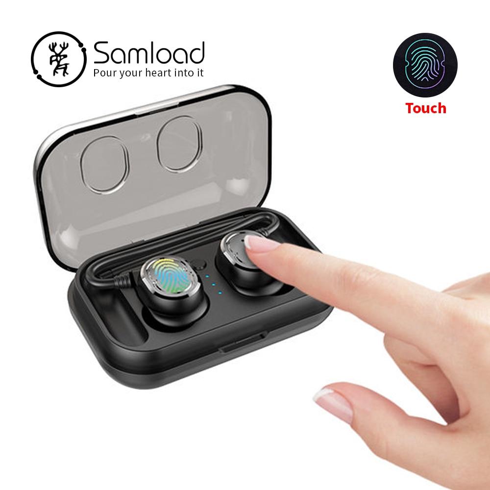 Samload Bluetooth 5.0 Écouteurs Avec Cas De Charge Sport Casque Jogging Sans Fil Casque Musique Intra-auriculaires Pour Apple iPhone Xiaomi