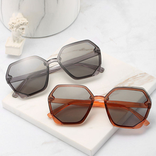 XIWANG New Style Sunglasses Net Red Fashion Street Female Personality Polygon Round Face Retro Large Frame