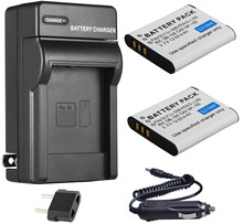 Аккумулятор (2-Pack) + зарядное устройство для Olympus Stylus Tough TG-805, TG-810, TG-820 iHS, TG-830, TG-835, TG-850, TG-860, TG-870 цифровая камера
