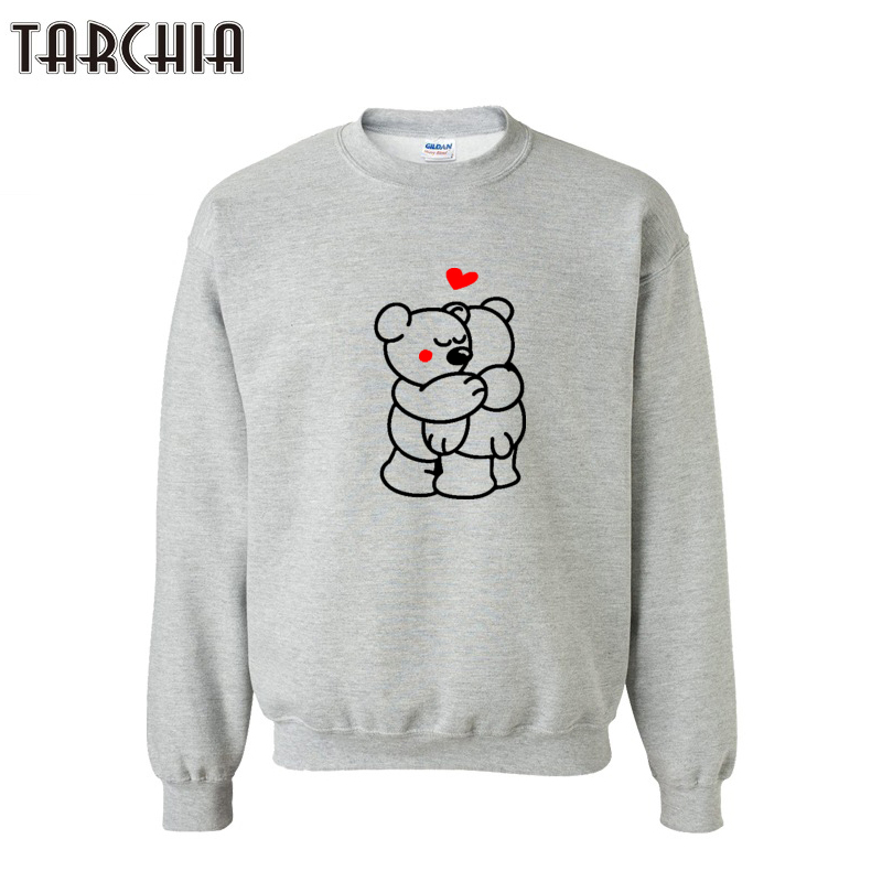 TARCHIA Autumn Winter Men Bear Print Men Cotton O-Neck Sportwear Hoodies Camisa Masculina Tees Hoodies Sweatshirts
