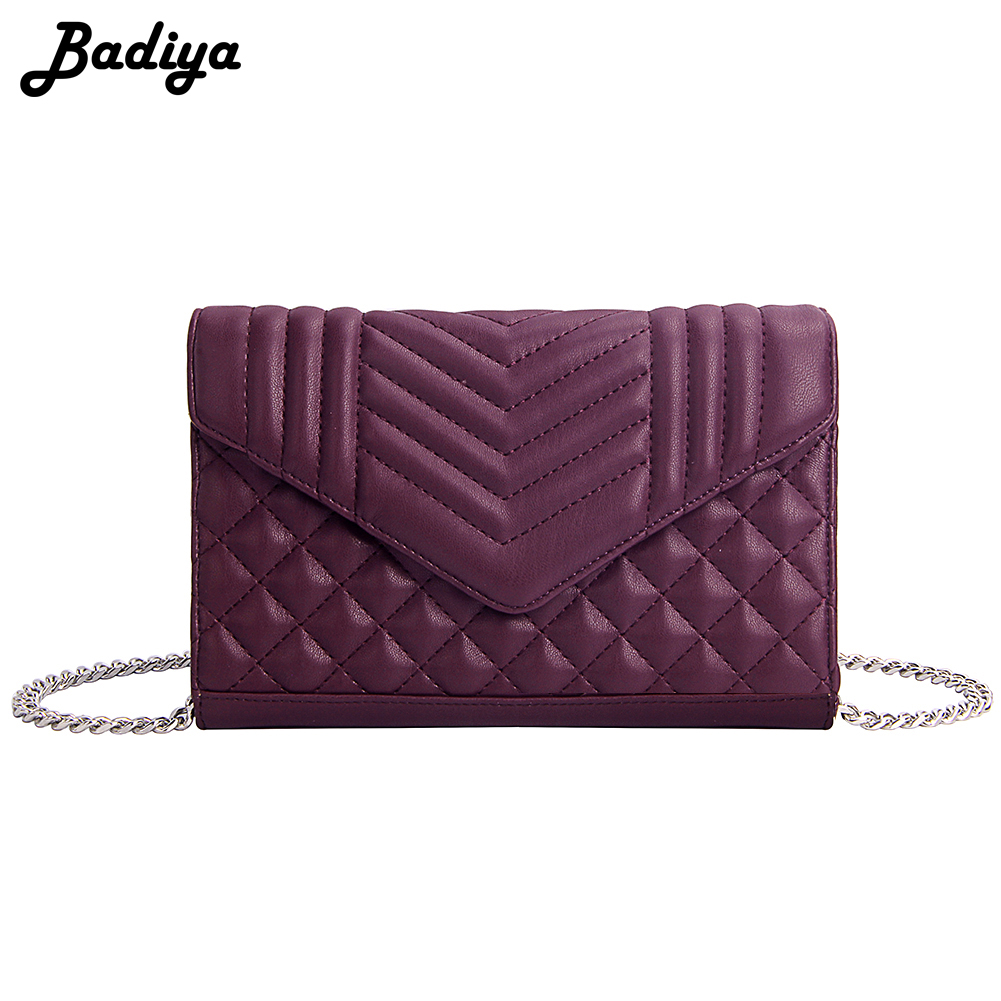 Fashion Women PU Leather Shoulder Bags Plaid Embossed Lady Crossbody Bag Solid Color Messenger Bag Elegant Envelop Clutch Purse