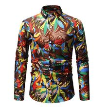 3d-print 2019 spring autumn features shirts men designer shirt high quality long sleeve casual