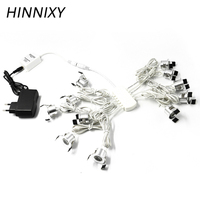 Hinnixy LED Silvery Mini Spot Dimmable Downlights Set Remote Control Ceiling Recessed 12V 1.5W 27mm Cut Hole Cabinet Lights