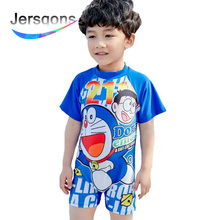 купить Jersqons UPF50+ Children Cartoon Swimwear One Piece Bathing Suit for Kids Boys Swimming Beachwear Swimsuit дешево