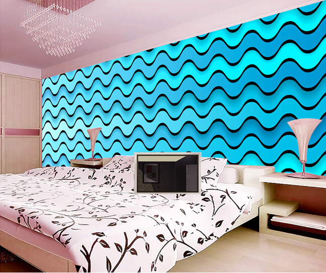 Rooms With Lines: The Latest Custom 3D Murals,fashionable Three Dimensional