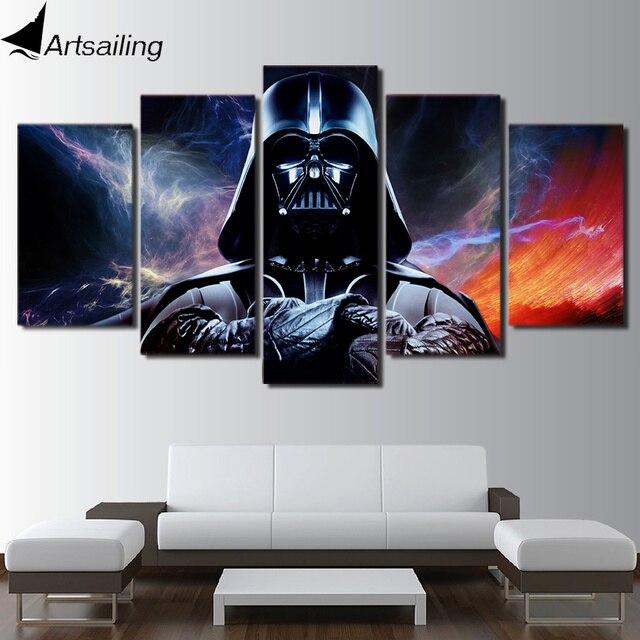 Hd Printed 5 Piece Canvas Art Star Wars Painting Wall Livingroom Decor