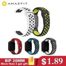 Silicone Amazfit bip Strap Watch Band 20mm Correa amazfit bip xiaomi Bracelet For Xiaomi mijia quartz Garmin Forerunner bip 2