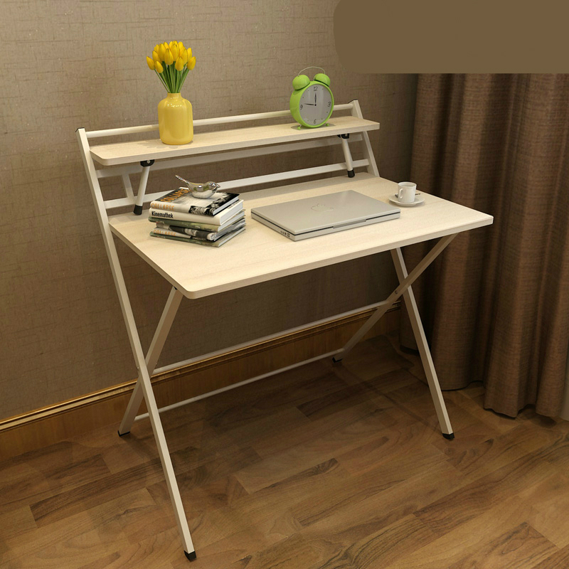 Simple Style Foldable Desk Free Installation Study Table Household Writing  Desk Multifunction Office Computer Table Steady