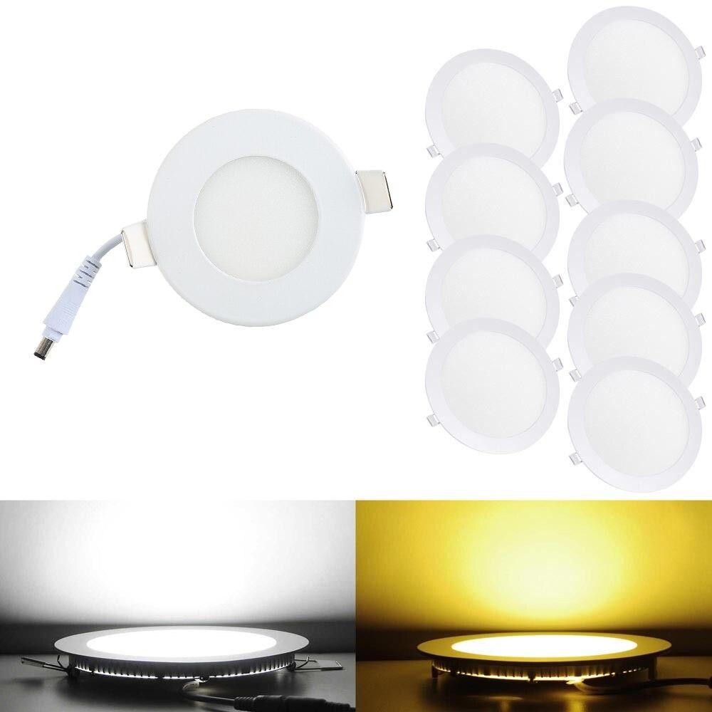 1 шт./лот светодиодные светильники лампы 3 Вт 4 Вт 6 Вт 9 Вт 12 Вт 15 Вт 18 Вт белый /теплый белый Потолочные встраиваемые светильники круглые свето...