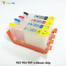 For HP 903 904 905 Refillable Ink Cartridge OfficeJet 6950 6956 Pro 6960 6961 6964 6970 Printer Without chip