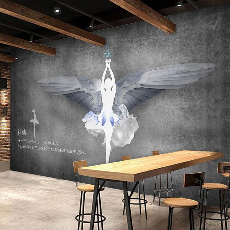 custom 3d mural 3d cement brick wall wallpaper dance