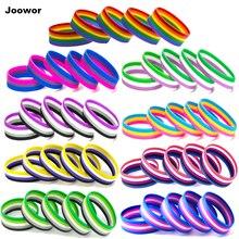 ЛГБТ Pride Радужный пансекал, ассуальный Genderqueer, браслеты для женщин и мужчин, ювелирные изделия, силиконовый браслет, 10 шт., для мужчин и женщин