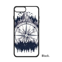 Universe Philosophy Blue Space Geometry Astronaut Compass River Fantasy Phone Case For IPhone X 7 8