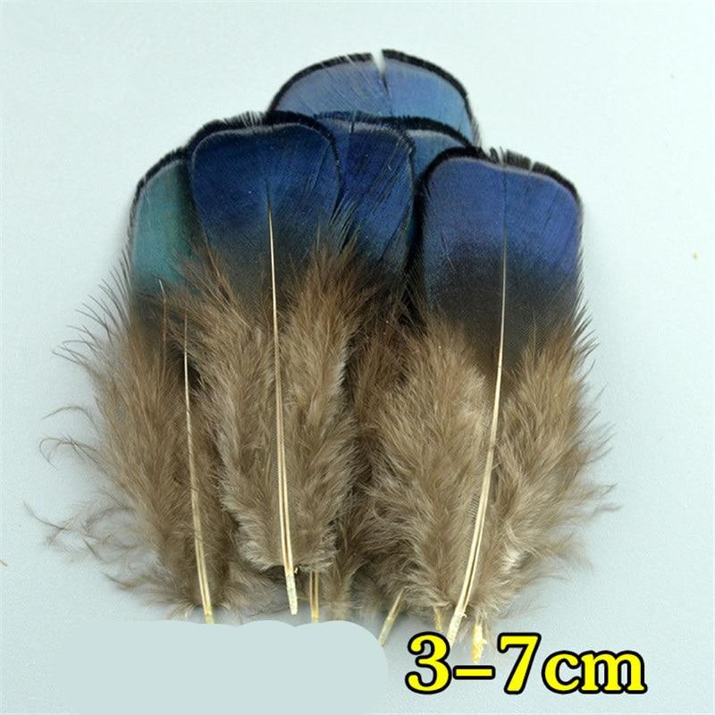 Натуральное павлинье перо перья фазана для рукоделия страусиные перья Изготовление ювелирных изделий рождественские праздничные украшения Плюмы - Цвет: 3-7 CM