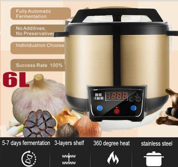220v 6L Automatic Black Garlic Fermenter Fermentation 90W Stainless Steel Liner Household Electric Black Garlic Machine