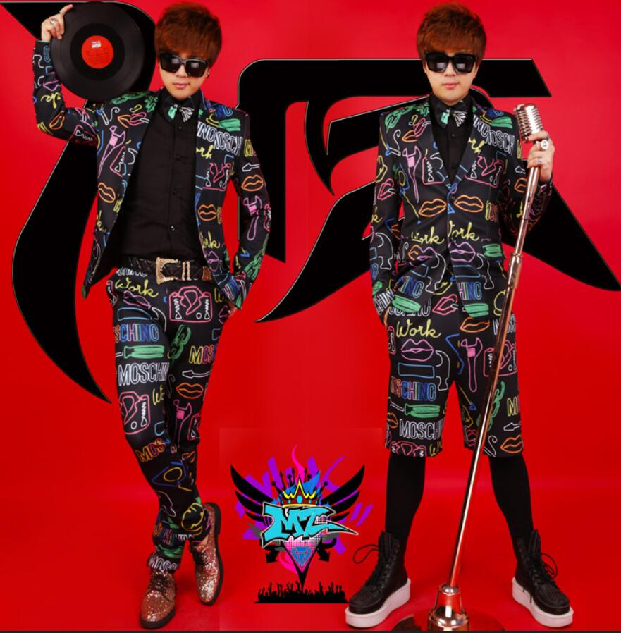 S-5XL ! Bigbang Suit Sets DJ DS Men Singers Dazzle Colour Formal Dress Mens Blazer Stage Coat Costumes Clothing ! free shipping ...