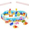 BOHS Bebê Educacional Crianças Puzzle Brinquedo de Criança De Madeira Desenho Magnético Placa de Mestre De Pesca Set Brinquedo DIY 130