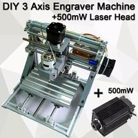 3 Axis Engraver Milling Wood Carving DIY CNC Engraving Machine 500MW Laser Head Working Area 160