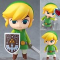 "Bonito Nendoroid The Legend of Zelda Ligação the Wind Waker Ver. #413 PVC Action Figure Collectible Modelo Toy 4 ""10 cm KT1328"