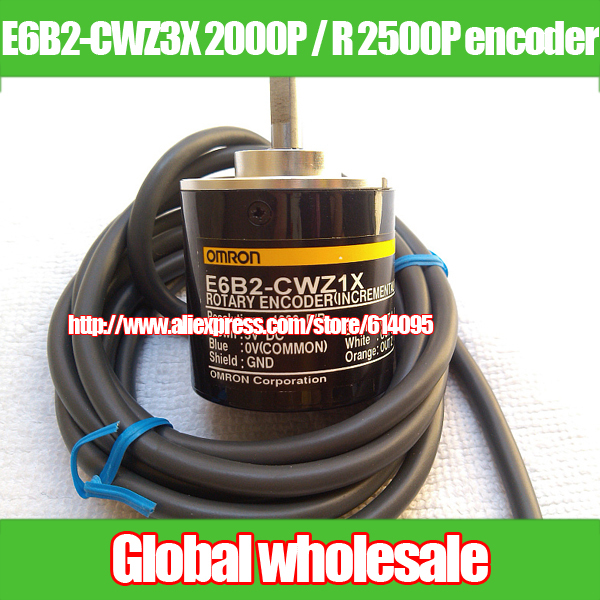 1pcs E6B2 CWZ3X 2000P R 2500P R rotary encoder for OMRON 24V incremental photoelectric encoder