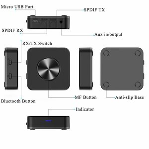 Image 3 - CSR8675 Bluetooth Transmitter and Receiver 5.0 ATPX HD APTX LL Adapter 3.5mm/SPDIF/Digital Optical Toslink for TV Car Speaker