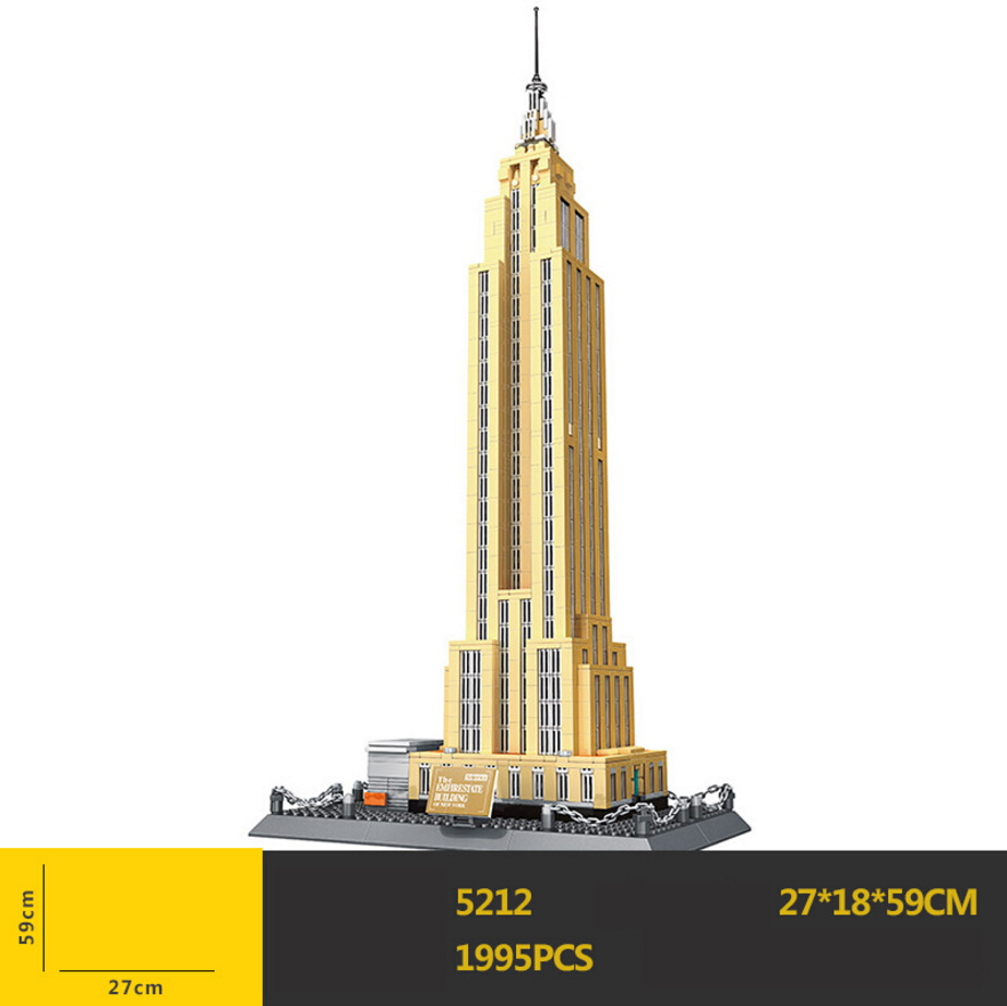 Hot world famous Architecture America New York Empire State Building US blocks model bricks educational toys collection for gift loz mini blocks world famous architecture model block toy john hancock center empire state building model no box ages 14