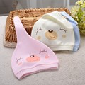 1PC 0 to 3 months baby 2016 new cartoon printed cotton T - cap newborn baby cap