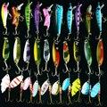 Juego de Señuelos de Pesca artificiales duros Señuelos de Pesca MINNOW conjunto de bolas de acero de Japón 30 Uds cebo de pesca de hoja aparejos baratos nuevo 2016