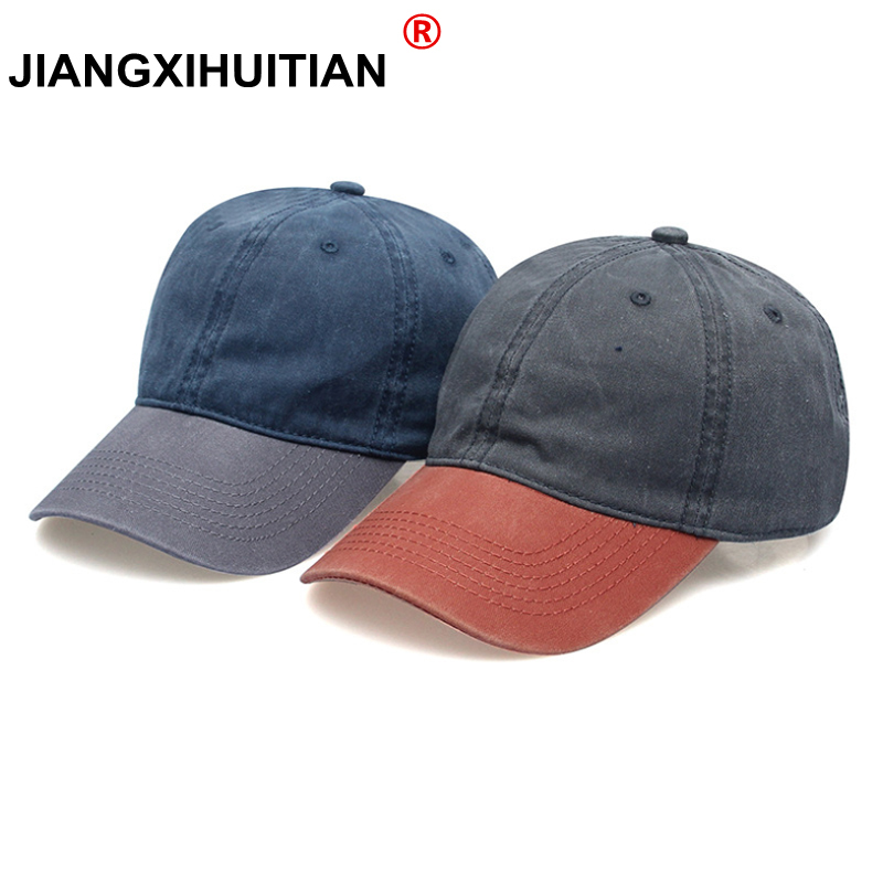 Women Snapback Caps Men Baseball Cap Hats For Men Casquette Bone Gorras Cotton Washed Blank Vintage Fight color Baseball Caps