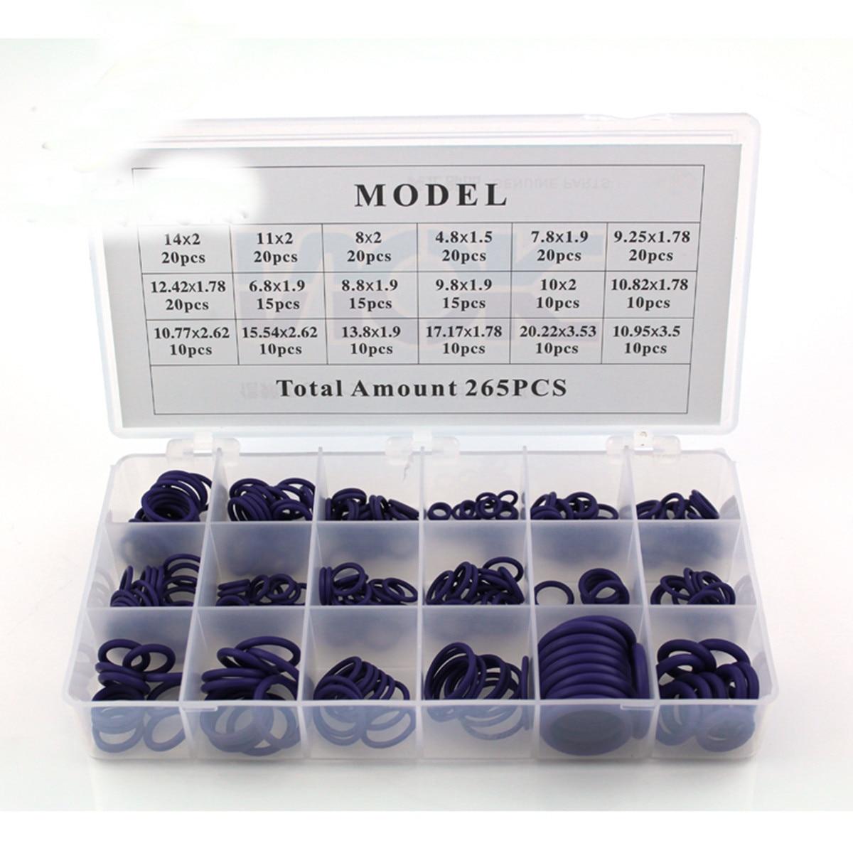 265pcs Rubber O Ring Oring Seal Plumbing Garage Set Kit 18 Sizes ...