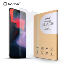 OnePlus 6 Tempered Glass One Plus 6 Screen Protector Clear Front Film Original CAPAS A6000 Anti-explosion Protective LCD Guard(China)